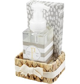 Mud Pie Initial F Hand Soap Paper Hand Towels And Basket Set