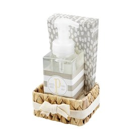 Mud Pie Initial P Hand Soap Paper Hand Towels And Basket Set