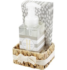 Mud Pie Initial H Hand Soap Paper Hand Towels And Basket Set