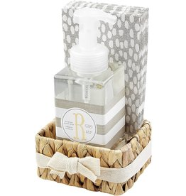 Mud Pie Initial R Hand Soap Paper Hand Towels And Basket Set