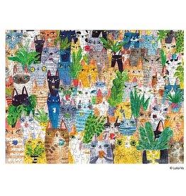 WerkShoppe Jigsaw Puzzle Cat Plant Exchange 500 Piece