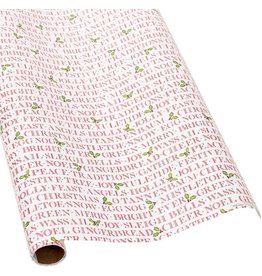 Caspari Christmas Gift Wrapping Paper 8ft Roll Yuletide Cheer