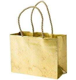 Caspari Christmas Gift Bag Small 7x3x5.25 Antique Gold