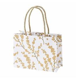 Caspari Christmas Gift Bag Small 7x3x5.25 Berry Branches