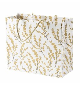 Caspari Christmas Gift Bag Large 11.75x4.75x10 Berry Branches