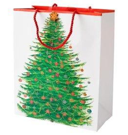 Caspari Christmas Gift Bag Large 10x4.75x11.75 Glittering Tree