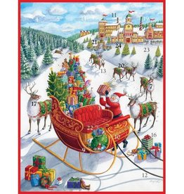 Caspari Christmas Advent Calendar Santas Sleigh