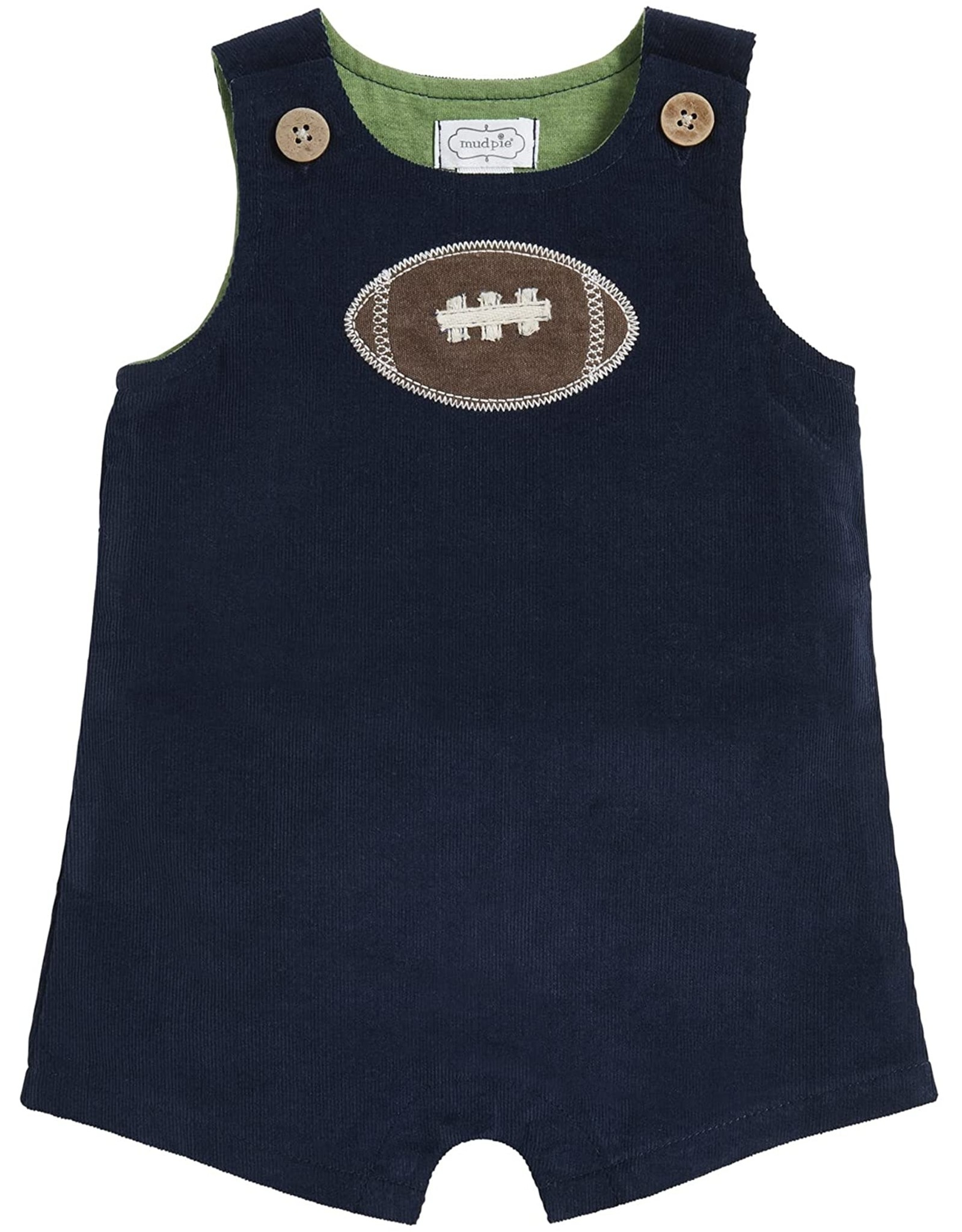 Mud Pie Baby N Kids Clothing One-Piece Football Shortall 6-9 Months