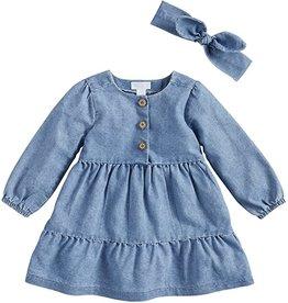 Mud Pie Kids Clothing Denim Tiered Dress 3T