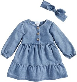 Mud Pie Kids Clothing Denim Tiered Dress 4T