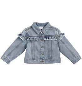 Mud Pie Kids Clothing Denim Ruffle Jacket 4T-5T