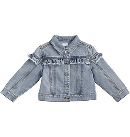 Mud Pie Kids Clothing Denim Ruffle Jacket 12-18 Months