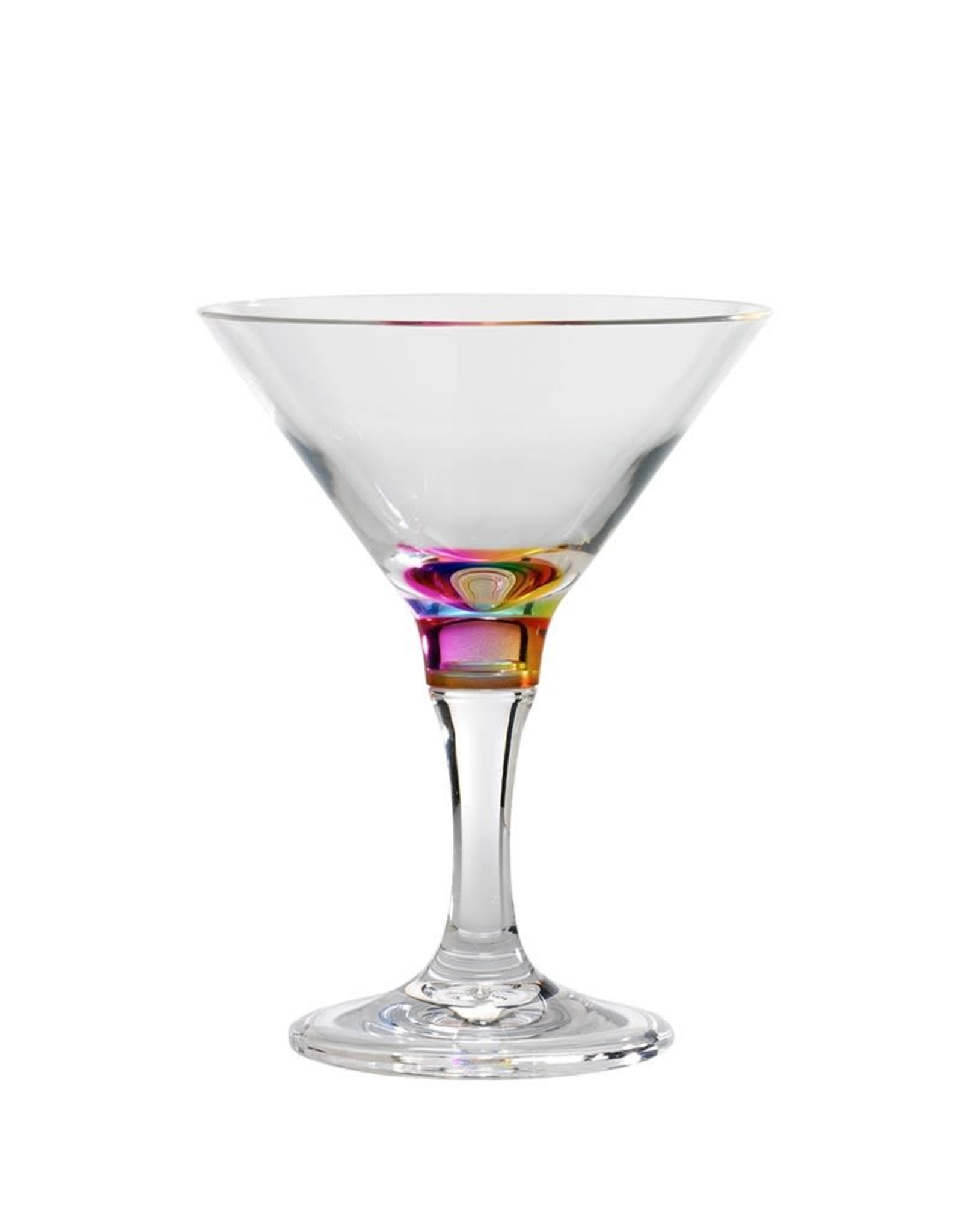 Merritt International Acrylic Crystal Rainbow Martini Glass 9oz