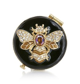 Jay Strongwater Compact Mirror Buzz Bee Compact