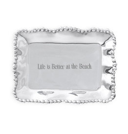 Beatriz Ball Organic Pearl Tray Life is Better at the Beach GIFTABLES