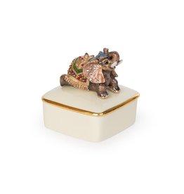 Jay Strongwater Boxes Priya Elephant Porcelain Box