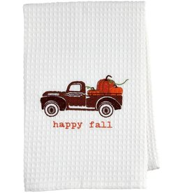 Mud Pie Thanksgiving  Waffle Weave Hand Towel Happy Fall