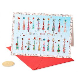 PAPYRUS® Christmas Card Row Of Trees Wonderful Holiday Season