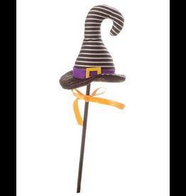Darice Halloween Picks Witch Hat Pick 4x16 inch Black White Stripes