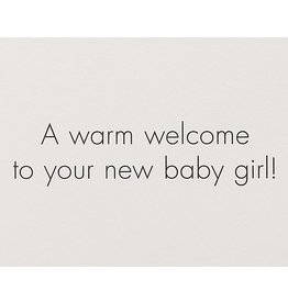 PAPYRUS® New Baby Card Pink Dress On Hanger New Baby Girl