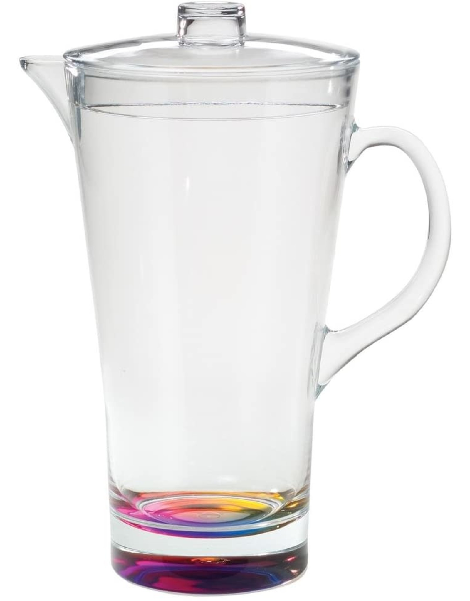 Merritt International Acrylic Rainbow Crystal Pitcher 2 Quart