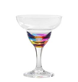 Merritt International Acrylic Jewel Rainbow Margarita Glass 11 Oz