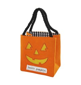 Mud Pie Halloween LED Light Up Trick-Or-Treat Candy Bag - Pumpkin