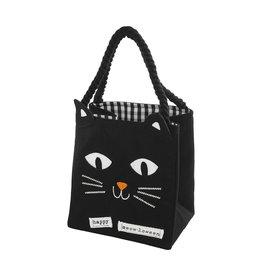 Mud Pie Halloween LED Light Up Trick-Or-Treat Candy Bag - Black Cat