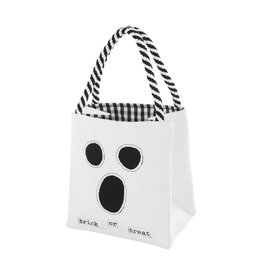Mud Pie Halloween LED Light Up Trick-Or-Treat Candy Bag - Ghost