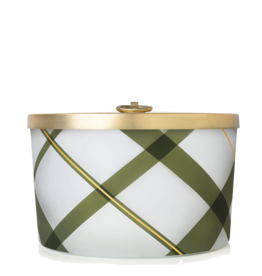 Frasier Fir Frosted Plaid Large Candle 18 Oz