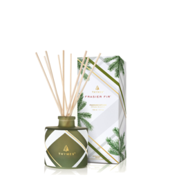 Frasier Fir Reed Diffuser Set Petite Frosted Plaid 4oz