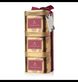 Frasier Fir Stackable Gift Tin Trio Gift Set of 3