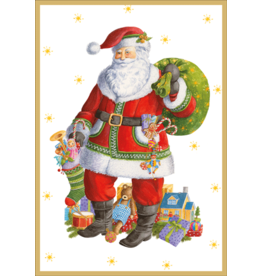 Caspari Christmas Cards Santa Clause Lane Card