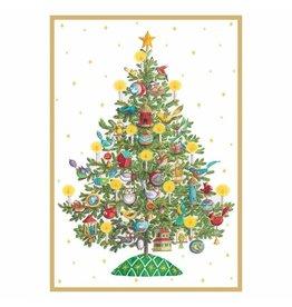 Caspari Christmas Cards Bird Christmas Tree Card