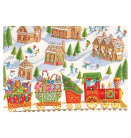 Caspari Christmas Cards Gingerbread Village Card