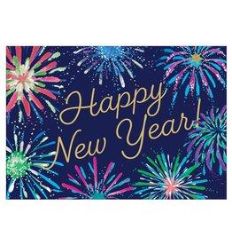 Caspari New Years Cards NYE Fireworks Foil Card