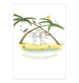 Caspari Wedding Cards Beach Wedding Card