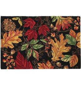 Peking Handicraft Autumn Symphony Hook Rug Fall Leaves 27x40