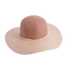 Mud Pie Women's Hats - Color-Block Sun Hat In Blush