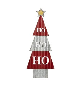 Mud Pie Easel Christmas Tree Display - Ho Ho Ho 33x13
