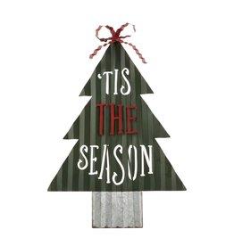 Mud Pie Easel Christmas Tree Display - Tis The Season 28 Inch