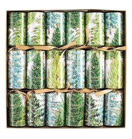 Caspari Celebration Crackers 6pk Christmas Trees With Lights