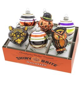 Christopher Radko Shiny Brite Halloween Decorated Rounds And Figures