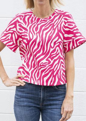 Tara Jarmon Pink Print Top
