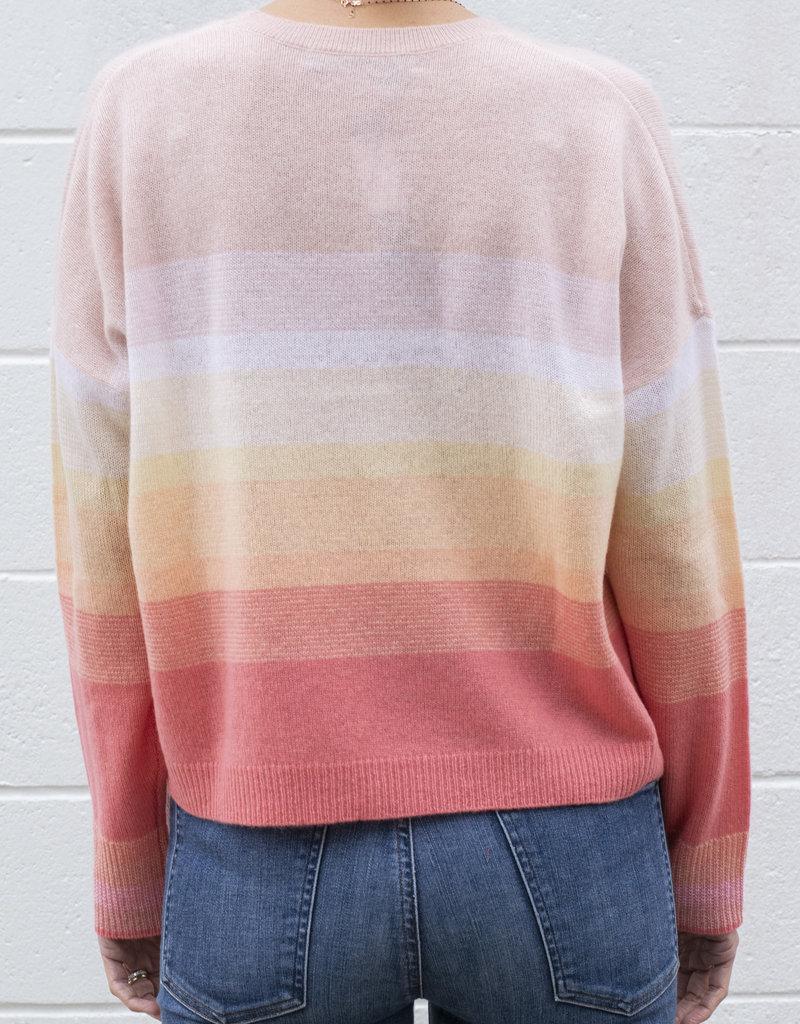 360 Cashmere Russet Stripe Sweater