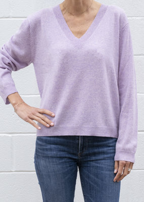 Peoples Republic of Cashmere Lilac V Neck Sweater