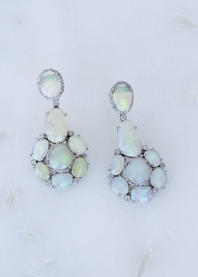 The Woods Fine Jewelry Opal Chandelier Earrings