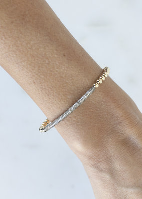 EKDesigns Gold Beads with Pave Bar