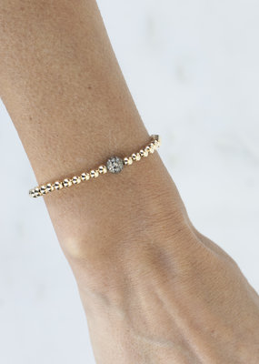 EKDesigns Gold Beads with Pave Ball