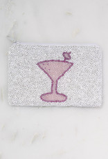 Beaded Coin Purse - Pink Martini